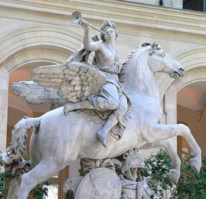 Куазевокс. Скульптурная группа «Слава и Меркурий»