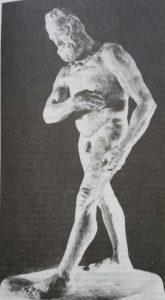 Этюд памятника Виктору Гюго. Гипс