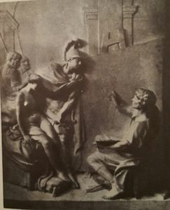 Фальконе. Александр и Кампаспа. 1765 (извиняемся за качество снимка - лучше найти не смогли). Легионеры - в левом верхнем углу