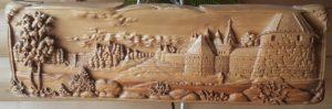 Соловецкий монастырь. Дерево. Бук. Примерно 1995