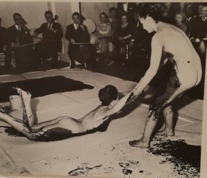 Yves Klein`s painting ceremony