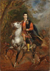 К.П.Брюллов. Портрет А.Н.Демидова на коне. 1831-1852