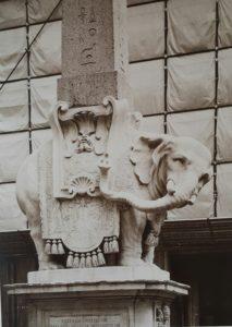 Бернини. Слоненок. 1667. Мрамор. Высечен скульптором Эрколе Феррата