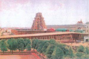 На рисунке видно, как колонна застряла между пирсом и платформой