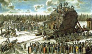 Гром-камень – небывалый постамент для памятника Петру I