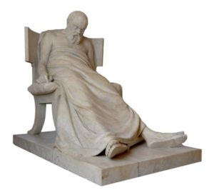 Антокольский. Смерть Сократа. Начал лепить в 1875. Мрамор