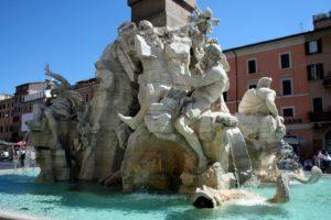 Бернини и не только. Фонтан четырёх рек. Все туристы его знают