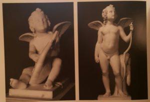 Торвальдсен. Слева - Амур с лирой, 1818, справа - Амур, опирающийся на лук - 1819. Оба в Музее Торвальдсена