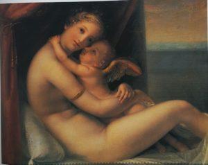 Канова. Венера и Амур. Холст, масло. Поссаньо. Дом Кановы. 1799