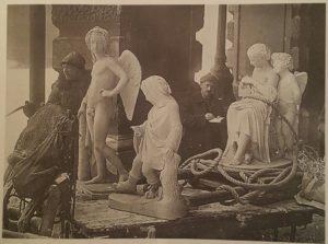 ывоз скульптуры из Аничкова дворца. Фото 1928