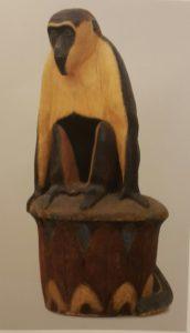 Обезьяна на капители. Дерево тонированное. 1959