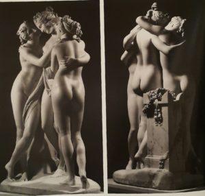 Три Грации из Эрмитажа. Вид сзади