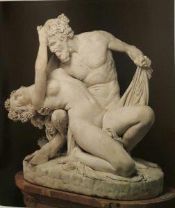 Прадье. Сатир и вакханка. Лувр. Мрамор