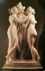 Канова. Три Грации. Англия. Аббатство Вобурн. Мрамор. 1819