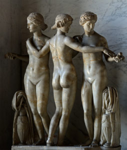 Три Грации. 2 век н.э. Мрамор. Высота 133 см