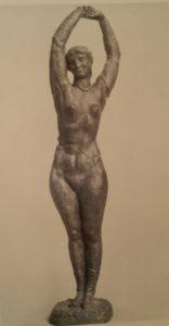 Бурдель. Обнаженная с поднятыми руками (хенде хох?). Бронза. 1927