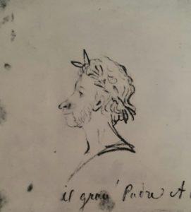Автопортрет 1835-1836 с надписью «il gran Padre AP» ( Патриарх АП)