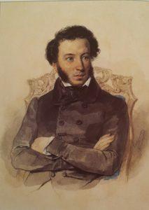 П.Ф.Соколов. Пушкин. 1836 (за год до смерти). Акварель