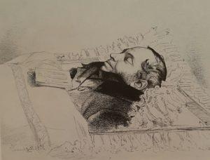 Ф.А.Бруни. Пушкин в гробу. 30 января 1837