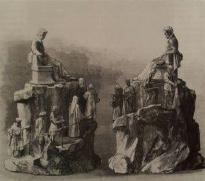 М.М.Антокольский. Проект памятника Пушкину 1875