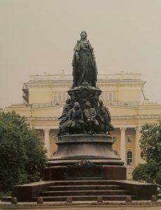 Фото. Памятник Екатерине II в Санкт-Петербурге. Авторы М.О.Микешин, М.А.Чижов, А.М.Опекушин. 1873