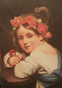 Кипренский. Девочка в маковом венке и гвоздикой в руке (Мариучча). 1819