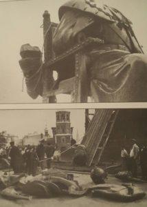 Демонтаж памятника императору Александру III. Фото А.Р.Радченко, Москва, 1918