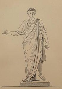 Гравюра с проекта памятника Ришелье работы Мартоса. 1824