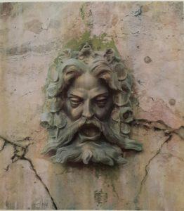 Мартос. Маскарон. Римские фонтаны. 1817. Петергоф («двор Петра»). Утрачен в 1941-1945.