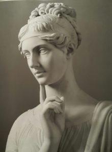 Б.Торвальдсен. Княгиня Барятинская. 1818 Фрагмент
