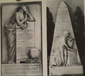 Гудон. Слева надгробие князя А.Д.Голицына. Справа надгробие М.М.Голицына. 1774. Мрамор.