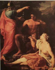 П.Батони. Геракл на распутье между Добродетелью и Пороком. 1745. Уффици. Флоренция