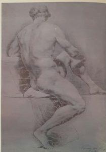 Мартос. Рисунок натурщика. 1773-1778. У кого еще учиться такому рисовальщику?