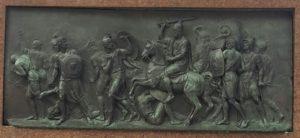 Мартос. Задний барельеф на постаменте памятника. Изгнание поляков. 1808-1818