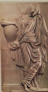 Мартос. Надгробие княгини С.С.Волконской. 1782. Мрамор. Государственная Третьяковская галерея