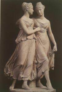 Фото. Бартолини. Эмма и Джулиа Кэмпбелл. 1819-1820. Флоренция. Гипсовая модель