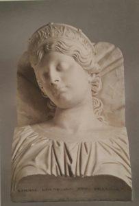 Фото. Раух. Скульптурное изображение королевы Прусской Луизы. Авторский повтор. 1811-1814. Мрамор. Эрмитаж