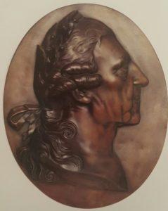 Фото. И.Г.Шадов. Фридрих Великий с лавровым венком. Бронза. 1819-1826