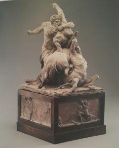 Фото. Жан Батист Стуф (годы жизни 1742-1826). Геракл, убивающий двух кентавров. 1785. Терракота