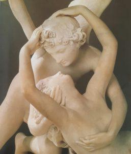 Фото. Канова. Поцелуй Амура и Психеи. Лувр. Фрагмент