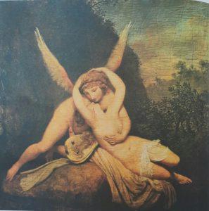 Фото. Канова. Поцелуй Амура и Психеи. 1780-ые. Холст, масло. Венеция. Музей Коррер