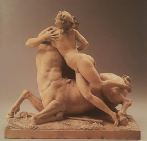 Фото. Сергель. Кентавр, обнимающий вакханку. Терракота