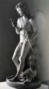 Торвальдсен. Торжествующий Амур, осматривающий свою стрелу. 1823. Гипсовая модель. Музей Торвальдсена. Копенгаген