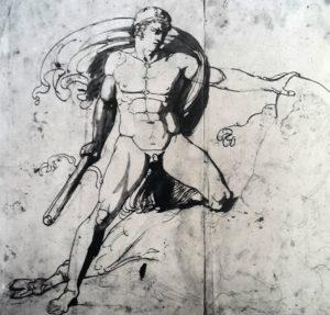 Торвальдсен. Тесей, борющийся с Минотавром. 1805