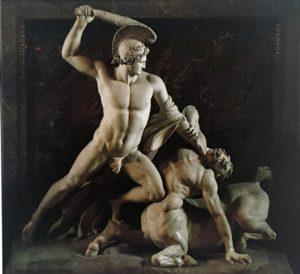 Канова. Тесей, борющийся с кентавром. 1804-1819