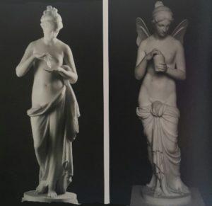 Канова. Психея (слева). 1789-1790. Торвальдсен. Психея (справа). 1806-1809