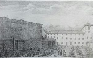 А.Нани. Вид Гипсотеки и дома Кановы в Посаньо в 1882.