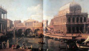 Фото. Каналетто. Каприччо на мотив проекта моста Риальто Палладио. 1744-1745