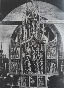 Фото. Рименшнейдер. Алтарь кладбищенской церкви в Креглингене. Около 1505-1510