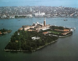 Фото. Аэрофотосъемка острова Сан-Джоржо-Маджоре
